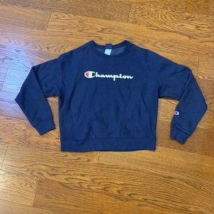 NWOT! CHAMPION Crop Sweatshirt- Large. NAVY
